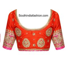 South India Fashion ~ Latest Blouse Designs 2020 - Page 10 Churidar Designs, Lehenga Designs, Saree Blouse Designs, Blouse Patterns, Blouse Styles, Lehnga Blouse, Work Blouse, India Fashion, Indian Designer Wear