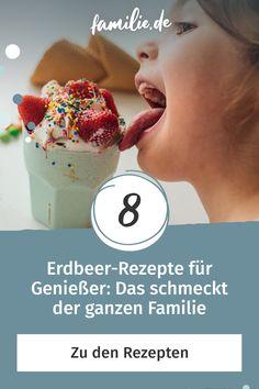 Von Mai bis Juli ist Hochsaison für Erdbeeren. Zugegeben, Erdbeeren schmecken einfach immer, aber diese Rezepte müsst ihr probieren. Schnell und einfach, oder extravagant und raffiniert: Diese Erdbeer-Rezepte bringen euch Bonuspunkte bei der ganzen Familie ein. #erdbeeren #rezept #familienrezept #lecker #familie #familienleben #diy #selbermachen #rezeptidee #vereintimchaos