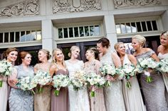 Mismatched bridesmaid dresses that I love! | photo by Dani Rose | click to see more! http://www.thebridelink.com/blog/2014/01/31/mismatched-bridesmaid-dresses-in-blush/