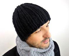 Chunky Knit Beanie in Pure Merino Wool