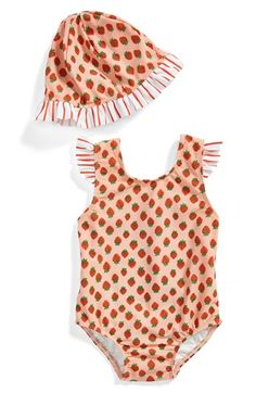 Tucker+++Tate+One-Piece+Swimsuit+&+Sun+Hat+(Baby+Girls)+available+at+#Nordstrom