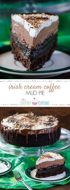 Coffee turned into pie? Chocolate cookie crust, a flourless chocolate whiskey cake, a layer of chocolate espresso pudding, an Irish cream chocolate mousse, topped off with a sweet whipped cream - it's a chocoholic's dream! #SundaySupper