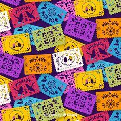 Mexican Restaurant Decor, Kawaii Chibi, Mexican Art, Halloween Wallpaper, Diy Halloween Decorations, Heart Art, Day Of The Dead, Paper Background, Scrapbooking