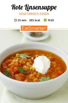 Seelenwärmer: Rote Linsensuppe mit Koriander - kalorienarm - schnelles Rezept - einfaches Gericht - So gesund ist das Rezept: 9,5/10   Eine Rezeptidee von EAT SMARTER   unter 400 kcal, Leichte Küche, Ohne Ei, Ohne Fleisch, Vegetarisch, Vegetarisches Mittagessen, Vegetarisches Abendessen, Vegetarische Suppen, Vegetarische Hauptgerichte, Vitaminreich, Vollwert, Wellfood, Winterrezepte, Gemüse, Hülsenfrüchte, Suppen, Linsensuppe, Gemüsesuppe #linsensuppe #gesunderezepte Low Fat Low Carb, Eat Smarter, What To Cook, Chana Masala, Keto Recipes, Wordpress, Veggies, Soup, Cooking