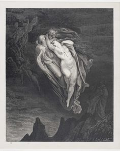 Gustave Doré, Divina Commedia, Inferno canto V, Paolo e Francesca