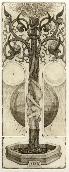nervoustemple:  clavicle-moundshroud: The Lovers - Iona Tarot