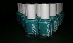 20 ESSIE Wholesale Nail Polish Shimmery Turquoise baby bridal shower party favor #essie