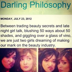 Looking for a fun, inspirational, and all around great blog? Please check out Darlingphilosophy.blogspot.com