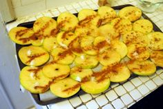 Homemade cinnamon apple chips. Sounds yummy!