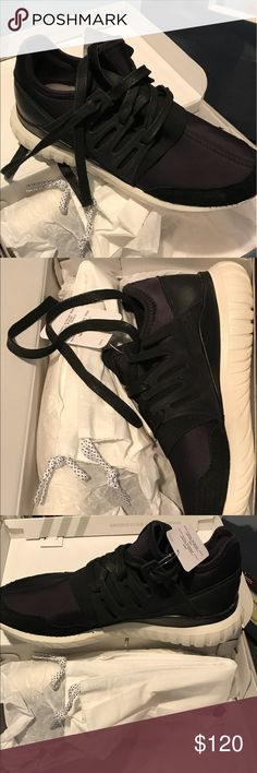 Customized Adidas Women's Brand new, size 6.5, black and suede Adidas Shoes Athletic Shoes