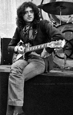 Jimmy Page, sound check, Minneapolis