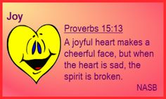 CLICK MEMLOK.COM Proverbs 15:13 A joyful heart! Comes from knowing Jesus! One of the Scripture memory verse cards from MemLok. Get them all only $29.95  #MemLok.com #biblememory #scripturememory