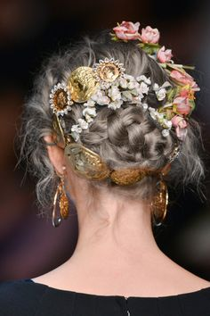 Dolce & Gabbana Spring/Summer 2014, Hair Details + Hair colored