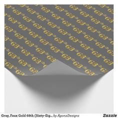Gray Faux Gold (Eighty-Third) Event Wrapping Paper - craft supplies diy custom design supply special Wrapping Paper Crafts, Wrapping Paper Design, Custom Wrapping Paper, Second Wedding Anniversary, Paper Anniversary, Paper Craft Supplies, Gold Gifts, Simple Gifts, Birthday Greeting Cards