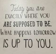 It is up to you