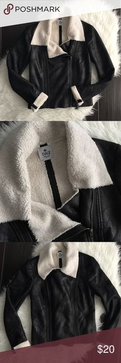 SW3 BESPOKE Chesham Sherpa aviator jacket Excellent used condition size small. Can be zipped two different ways. Lightweight but still cozy. Please review photos for details and measurements. No trades SW3 Bespoke Jackets & Coats