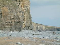 Rock falls are a constant hazard.  Woman killed by falling rocks at Llantwit Major (South Wales).