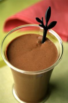 Chocolate Avocado Smoothie - substitute Almond or Soy milk for the skim milk in the recipe