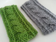 Crochet Cable Earwarmer, free pattern!
