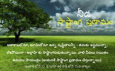 ఆకాశాలలోనూ, భూమిలోనూ ఉన్న సృష్టితాలన్నీ - తమకు ఇష్టమున్నా, లేకపోయినా - అల్లాహ్ కు సాష్టాంగపడుతున్నాయి. వాటి నీడలు సయితం ఉదయం సాయంత్రం (ఆయనకే సాష్టాంగ ప్రణామం చేస్తున్నాయి). {ఖురాన్ లోని 13  వ సూరా అర్ రాద్ లోని 15 వ వాక్యం} (Social network id: rammohanreddy777@gmail.com), Tags: Muttaqeen Islamic Center, Telangana, Andhra Pradesh, Hyderabad, india., Quran, Islam, telugu Quran, (Quran - surah AR RAD (the thunder) 13: 15)., And unto Allah (Alone) falls in prostration