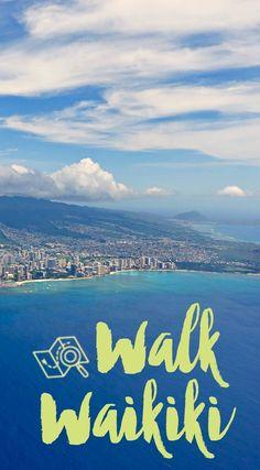 3 great walking or running routes to stay active in downtown Waikiki #Waikiki #Honolulu #Hawaii #trip