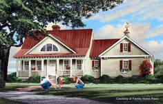 Adorable House Plan With A Sweet Porch From Family Home Plans #86347    Shown On