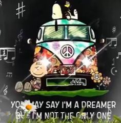 You may say I'm a dreamer - Trend Destructive Quotes 2019 Gifs Snoopy, Snoopy Videos, Snoopy Images, Snoopy Pictures, Snoopy Quotes, Cute Good Night, Good Night Gif, Good Night Sweet Dreams, Funny Good Night Pictures