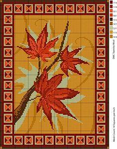 Alfombra hojas de arce