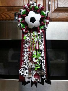 Soccer themed homecoming garter
