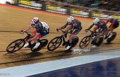 British cyclist Mark Cavendish competes in the Elite Championship Points Race - Men during the Elite Track Cycling Revolution Series at National Cycling Centre on January 2, 2016 in Manchester, England.