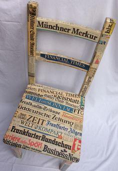 Individuell gestalteter Stuhl