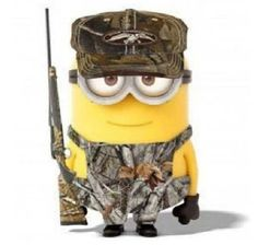 Camo minion now that is perfect! Two of my favorite things together lol