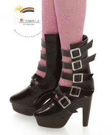 "16"" Tonner Tyler/Ellowyne Shoes 5-Strap Boots Pt Choc"