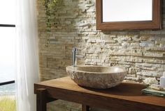 Virtu USA Elysia Bathroom Vessel Sink in G682 Granite VST-2075-BAS – BathVault