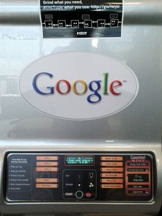 Google Coffe Machine - with geek instructions & internal url for reporting issues, requests ;)