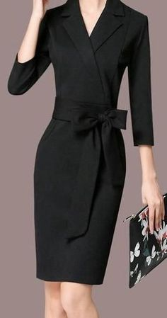 Elegant Formal Business Dress - Business Outfits for Work Funny Dresses, Women's Dresses, Elegant Dresses, Fashion Dresses, Dresses For Work, Dress Work, Long Dresses, Party Dresses, Girls Dresses