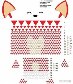 3d Origami Triangle Fox