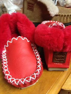 Hand made Australian sheepskin footwear  Made by Fair dinkum Moccies