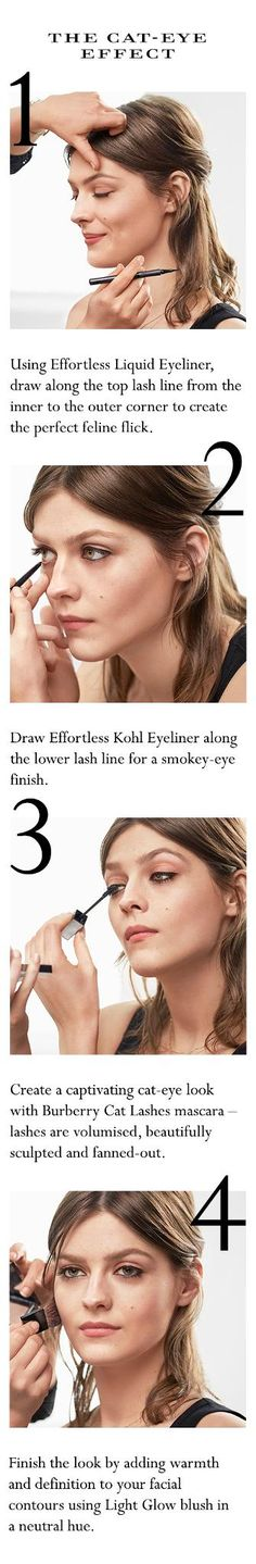 The Cat-eye effect. How to create a feline look using Burberry Cat Lashes mascara.