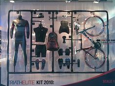 Window Display for 2010 Triathelite kit #RetailDesign #design