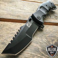 """9"""" CSGO Counter Strike BLACK  G10 Spring Assisted Pocket Huntsman MTECH"""