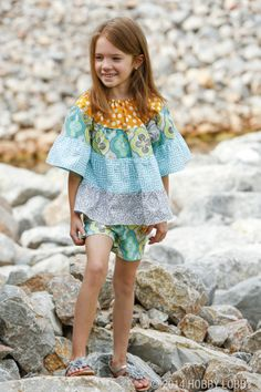 This bohemian-style tunic for girls is from McCall's pattern #6735.