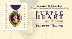 US Stamp - Purple Heart