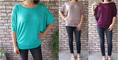 Made in the USA Viscose dolman tunic Small to Xlarge