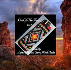 Bead PATTERN Yuma Lighter Cover Peyote Brick by Outoftheflames