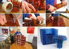 мебель из пластиковых бутылок своими руками: 2 тыс изображений найдено в Яндекс.Картинках White Side Tables, Recycling, Holiday Decor, Goblin, White End Tables, Upcycle, White Bedside Tables