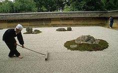 Zen Garden - Ryoan-ji near Kyoto, Japan Zen Garden Design, Japanese Garden Design, Japanese Landscape, Landscape Design, Landscape Art, Japanese Rock Garden, Asian Garden, Japanese Gardens, Ryoanji