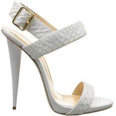Giuseppe Zanotti White Snake-Embossed Leather Sandal - Buy Online - Designer Sandals