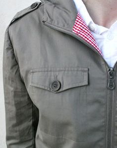 Bridge & Burn - Alda Jacket - Khaki: Another nice canvas jacket, with a single chest pocket.