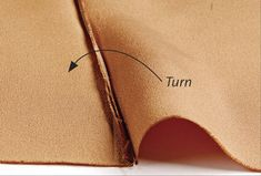 French seam fold Fold right sides together.